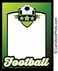 football themed poster template