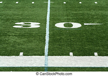 Football thirty yard mark