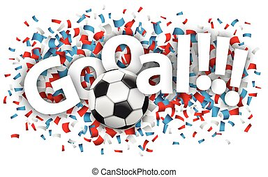 Football Tor Confetti France - Confetti with football and ...