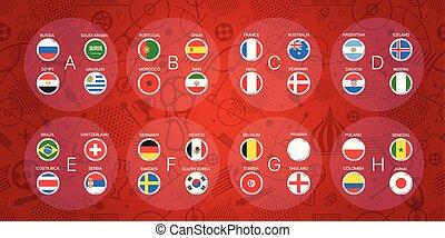 football, torneo, infographic, sagoma, calcio, scheme.