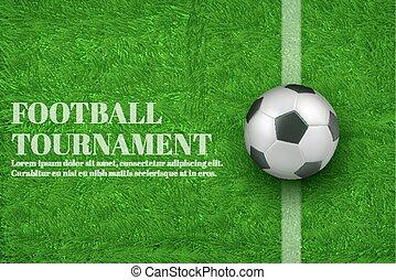 Football tournament 3d realistic vector banner