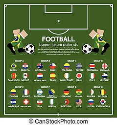 Football Tournament Chart.