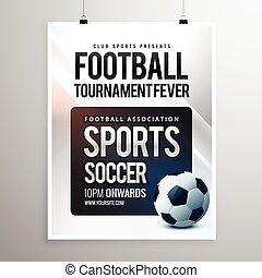 football tournament flyer invitation template