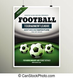 football tournament league game flyer design