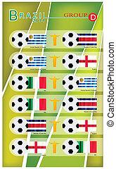 Football Tournament of Brazil 2014 Group D