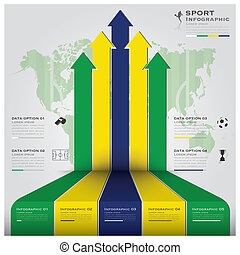 football, tournoi, sport, infographic, fond