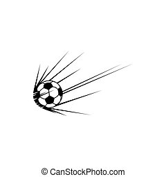 Football trail isolate soccer ball with trace icon
