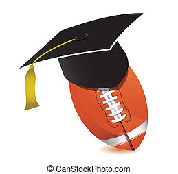 Football training school illustration design over white