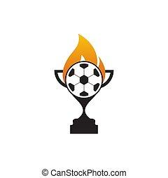 Football trhopy logo design template