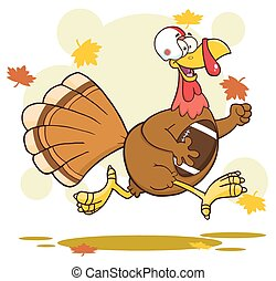 Football Turkey Bird Running