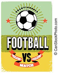 Football typographic vintage poster