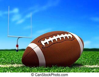 Football under Blue Sky