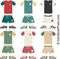 Football uniform different color