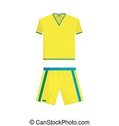 Football uniform icon, cartoon style