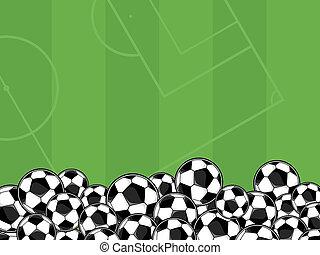 football, vecteur, fond, balles