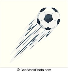 football, vecteur, illustration., balle
