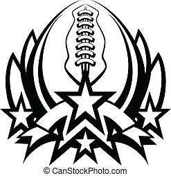 Graphic Template of American Football Vector Graphic