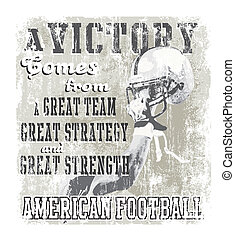 football victory - illustration for shirt printed and poster