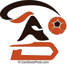Football Warrior Logo Design Template Vector