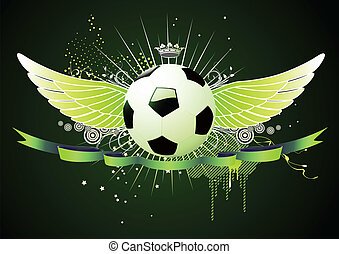 football winged emblems