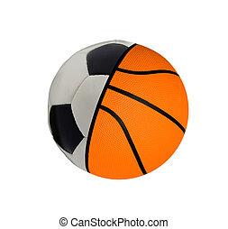 football with baketball - concept sports balls