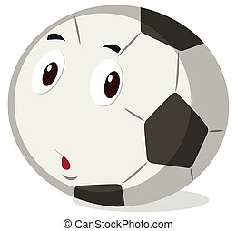 Football with cute face
