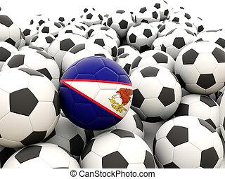 Football with flag of american samoa