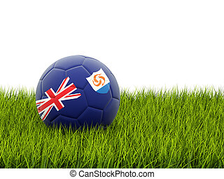 Football with flag of anguilla