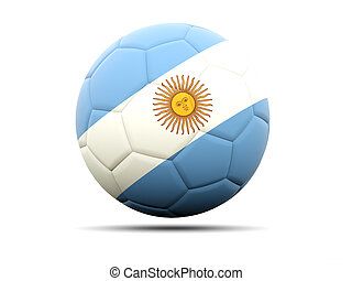 Football with flag of argentina