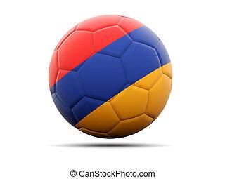 Football with flag of armenia