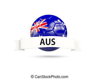 Football with flag of australia