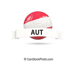 Football with flag of austria