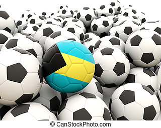 Football with flag of bahamas
