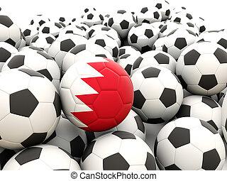 Football with flag of bahrain