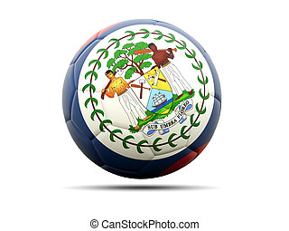 Football with flag of belize