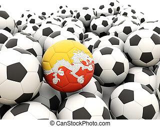 Football with flag of bhutan