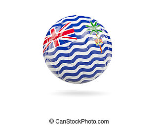 Football with flag of british indian ocean territory