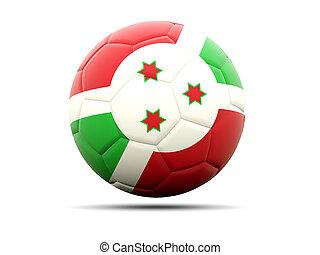 Football with flag of burundi