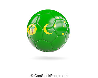 Football with flag of cocos islands