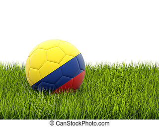 Football with flag of colombia