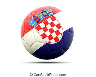 Football with flag of croatia