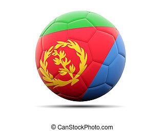 Football with flag of eritrea