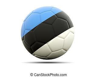 Football with flag of estonia