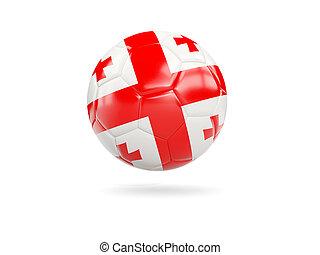 Football with flag of georgia