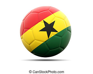 Football with flag of ghana