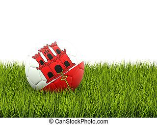 Football with flag of gibraltar