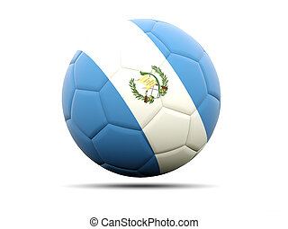 Football with flag of guatemala