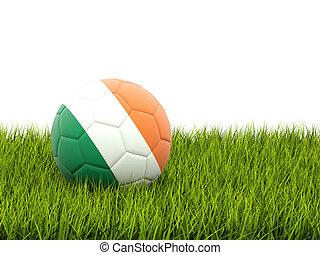 Football with flag of ireland