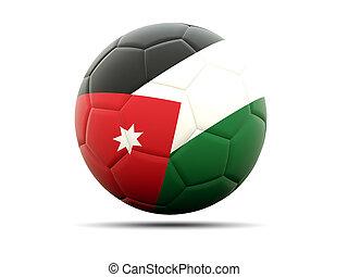 Football with flag of jordan