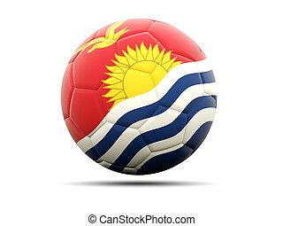 Football with flag of kiribati